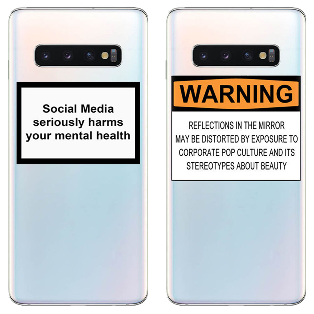 Social Media seriously harms your mental health Soft silicone phone cover case for Samsung Galaxy S6 S7 S8 S9 S10Plus Edge image