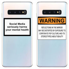 цена на Social Media seriously harms your mental health Soft silicone phone cover case for Samsung Galaxy S6 S7 S8 S9 S10Plus Edge