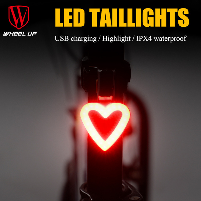 New Arrival Bike Light Round&Loving Rear Taillight Usb Highlighted Waterproof Mountain Bike Bicycle Tail Lamp For Night Cycling roswheel mtb bike bag 10l full waterproof bicycle saddle bag mountain bike rear seat bag cycling tail bag bicycle accessories