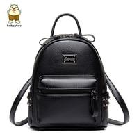 Beibaobao 2017 PU Leather Backpacks For Teenage Girls Fashion Women Backpacks High Quality Travel School Students