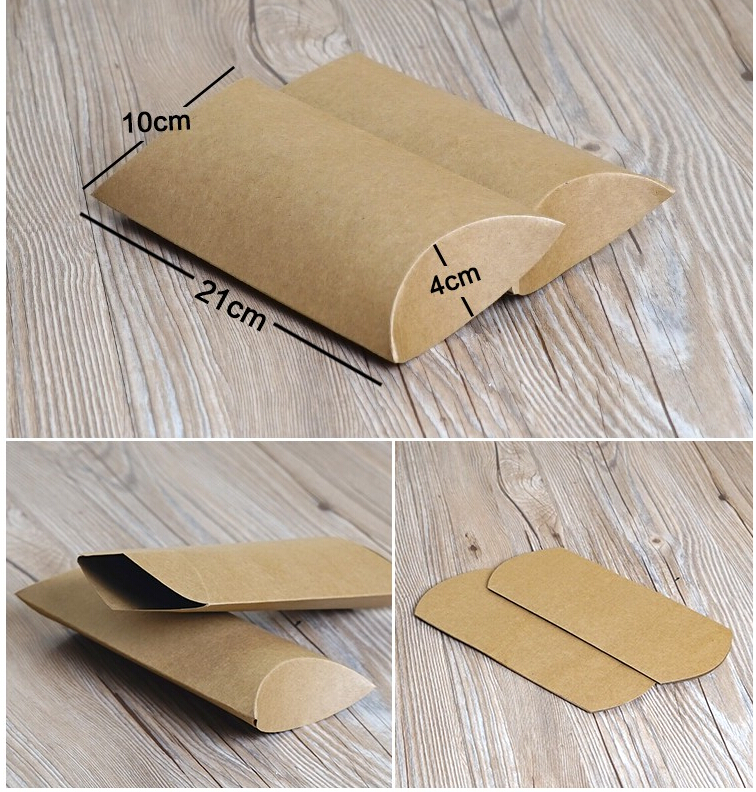 Kraft Carboard Gift Paper Box For Gifts Kraft Pillow