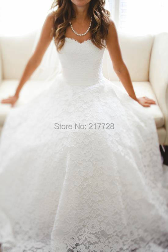 Aliexpress.com : Buy Tumblr Wedding Dresses Sweetheart A line ...