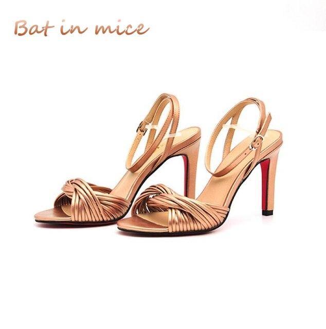 f27030a47a36 High quality Women High heel Sandals Glossy PU fashion Open toe Singlewomen  Sandals Sexy Mature Classic woman pumps Sandals C474