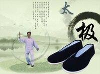 Shanghai Hikayesi Pamuk yapımı pekin ayakkabı düz topuk Erkek Kungfu Ayakkabı Çince Bez Düz Nefes Geleneksel Kong Fu Ayakkabı