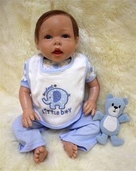 50cm Silicone reborn boy baby doll toy like real 20inch newborn babies doll bebe reborn girls bonecas birthday gift present