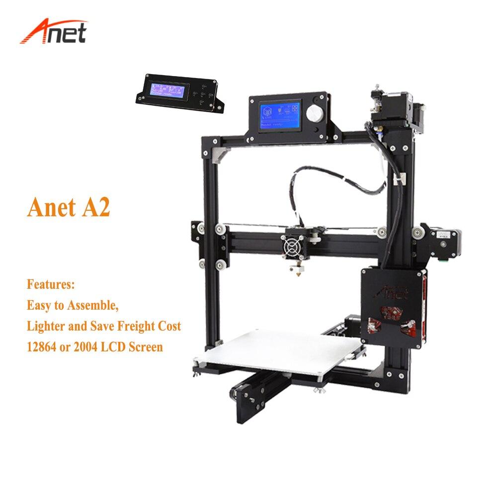 Anet a2 peso leve salvar o custo de frete 3d kit impressora única cor metal quadro 1.75mm filamento impressora 3d 0.1mm precisão - 2