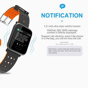 Image 4 - Reloj inteligente bluetooth bip smartwatch hombre relogio relojes นาฬิกาดิจิตอล Heart rate การตรวจสอบ smart watch ข้อความจอแสดงผล Q9