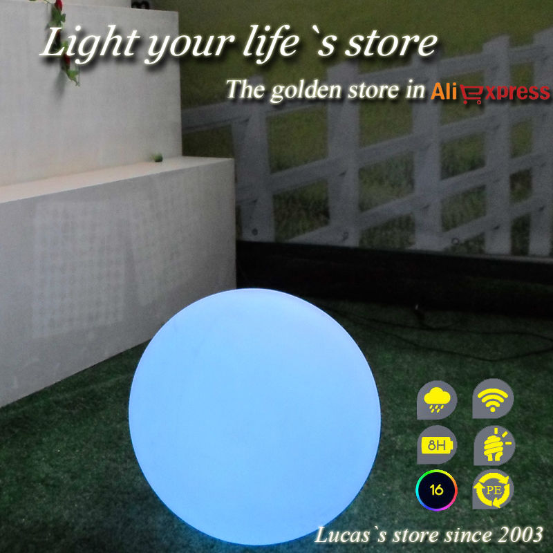Free shipping Diameter 20cm LED Sphere with 16 light colors