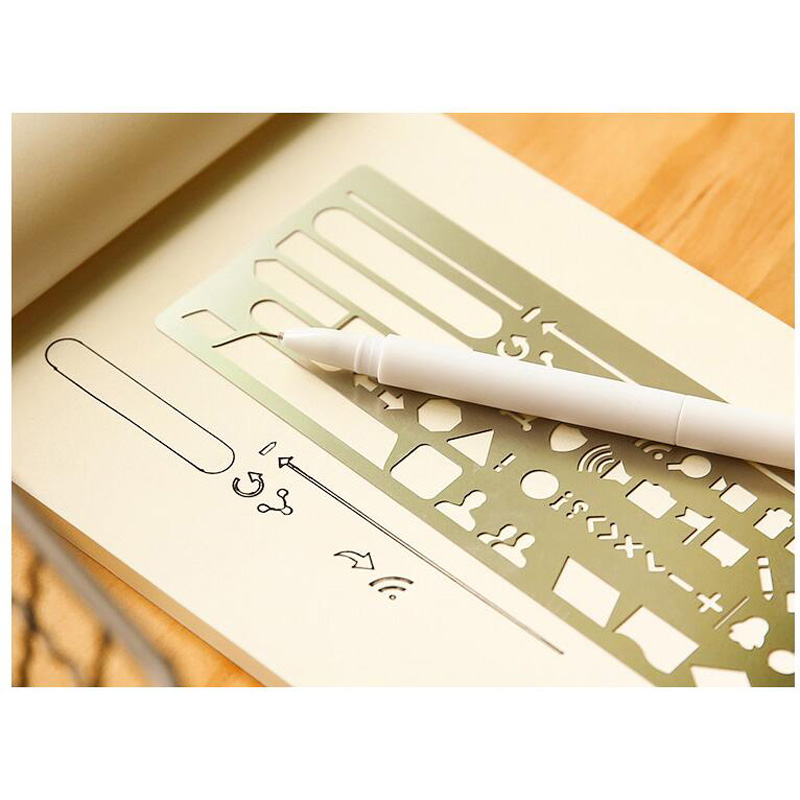Hollow Stainless Steel Drawing Picture Graffiti Template Drafting Tool Ruler Straight Ruler Drawing Writing Measuring Ruler