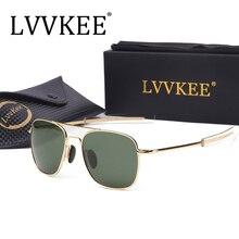 Hot USA Army MILITARY AO brand Designer mens Polarized Sunglasses 54mm G15 lens UV400 driving Sun glasses Male Pilots Sunglass