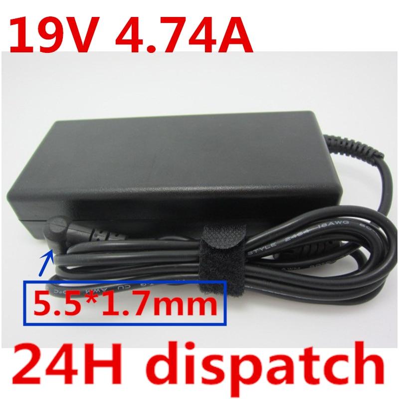 HSW 19V 4.74A ноутбук адаптер переменного/постоянного тока Мощность питания зарядное устройство для acer ADP-90CD дБ PA-1900-04 PA-1900-24 PA-1900-32 PA-1900-34