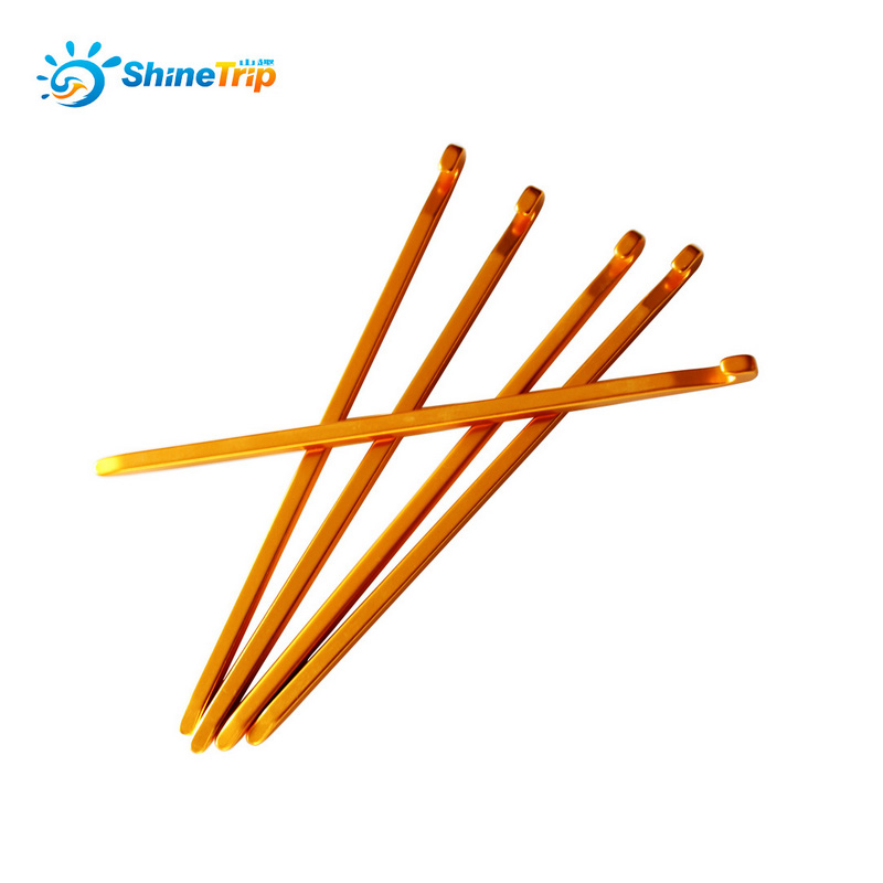 10PCS 18cm Aluminum Alloy Lightweight Tent Pegs Stake Nails Camping Trip Canopy