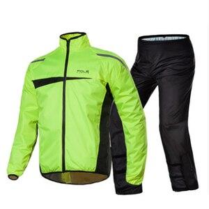 Image 1 - Модный Спортивный Плащ, мужской водонепроницаемый плащ, мотоциклетный дождевик, пончо, плащ, дождевик, дождевик, обувь для дождя