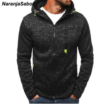 NaranjaSabor Spring Autumn Men's Hooded Jackets New Fashion Tracksuit Coats Male Zipper Sweatshirt Men Brand Clothing XXXL N443