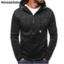 Naranjasabor Демисезонный Для мужчин; куртка с капюшоном Новая мода костюм пальто мужские свитшоты на молнии Для мужчин брендовая одежда XXXL N443