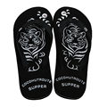 Cool Casual Male Beach Shoes Newest Tiger Printed Flip Flops Men Sandals Fresh Rubber Slippers Comfortable Flat Walking Shoes