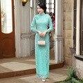 New 2016 fashion women Dress long Cheongsams Qipao Plus Size sexy Lace Maxi Dress Chinese Traditional Dress