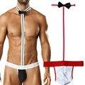 Venda quente Homens Sexy Borat Mankini Costume Swimsuit Swimwear Underwear Thong Suspensórios Jogar Traje Garçom Gay Lingerie