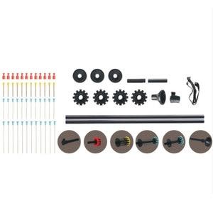 """Image 4 - Pistola sopladora de juguete para caza y tiro/arma de tiro de 36 y 48"""", negra, con 48 dardos/. Tubo de aluminio calibre 40 W. Agarre cómodo"""