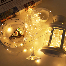 Cooper Wire Cabinet Lights 2M 5M 10M LED String Lights Christmas Home Decor Battery Operated Christmas Wedding Lamp Guirlande cheap AIMENGTE 30000Hrs Copper 2M 5M 10M Fairy String Lights Dry Battery Switch