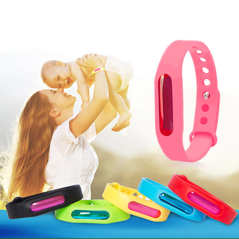 Colorful Silicone Wristband Summer  Anti-mosquito Band Mosquito Repellent Bracelet Safe For Children Environmental Protection