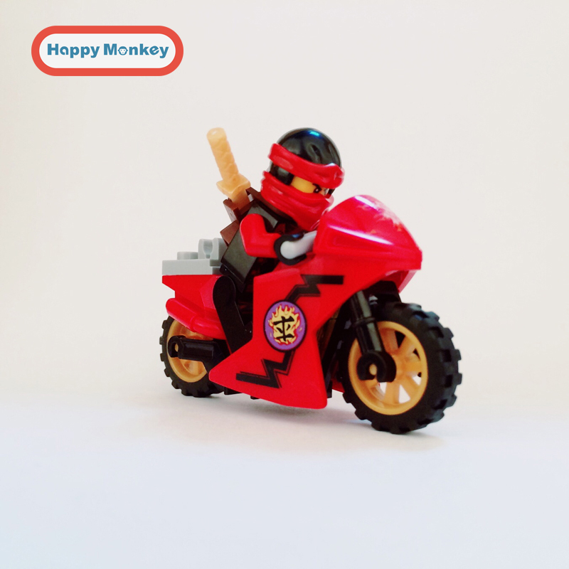 2018 HOT Ninjago KAI model fire ninja figure compatible with LEGOINGLYS kids Building Blocks Mini Bricks Children Toys zk20 compatible with lego ninjagoes 70596 06039 blocks ninjago figure samurai x cave chaos toys for children building blocks