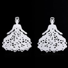 Hollow bubble skirt Women Die Cutter For Scrapbooking Stencils DIY Album Cards Embossing Cutting Dies