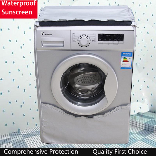 Waterproof Cover For Washer Sunscreen Washing Machine Cover Dryer Polyester Silver Coating Drum Machine cubierta lavadora
