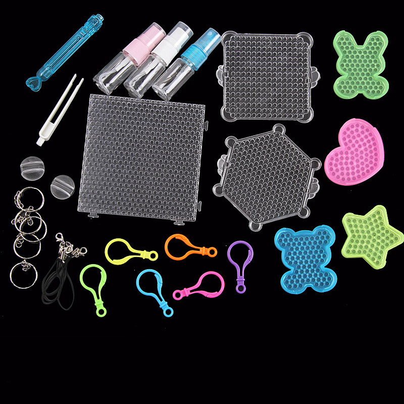 Puzzles 100% True Girls Toys For Aqua 3d Beads Pen Tweezers Fuse Beads Kit Pegboard Keyrings Accessories Diy Set Beadbond Kids Children Gift Aromatic Character And Agreeable Taste