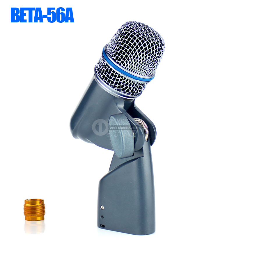 Professional BETA56A Kick Drum Microphone For BETA 56A Saxphone Tom Percussion Instruments Guitar Bass Amplifier Brass Woodwinds