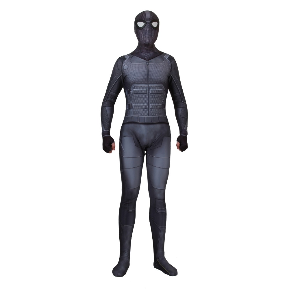 Adult Spider Man Far From Home Sneak battle Suit Peter Parker Cosplay Costume Zentai Spiderman Superhero Bodysuit Jumpsuits