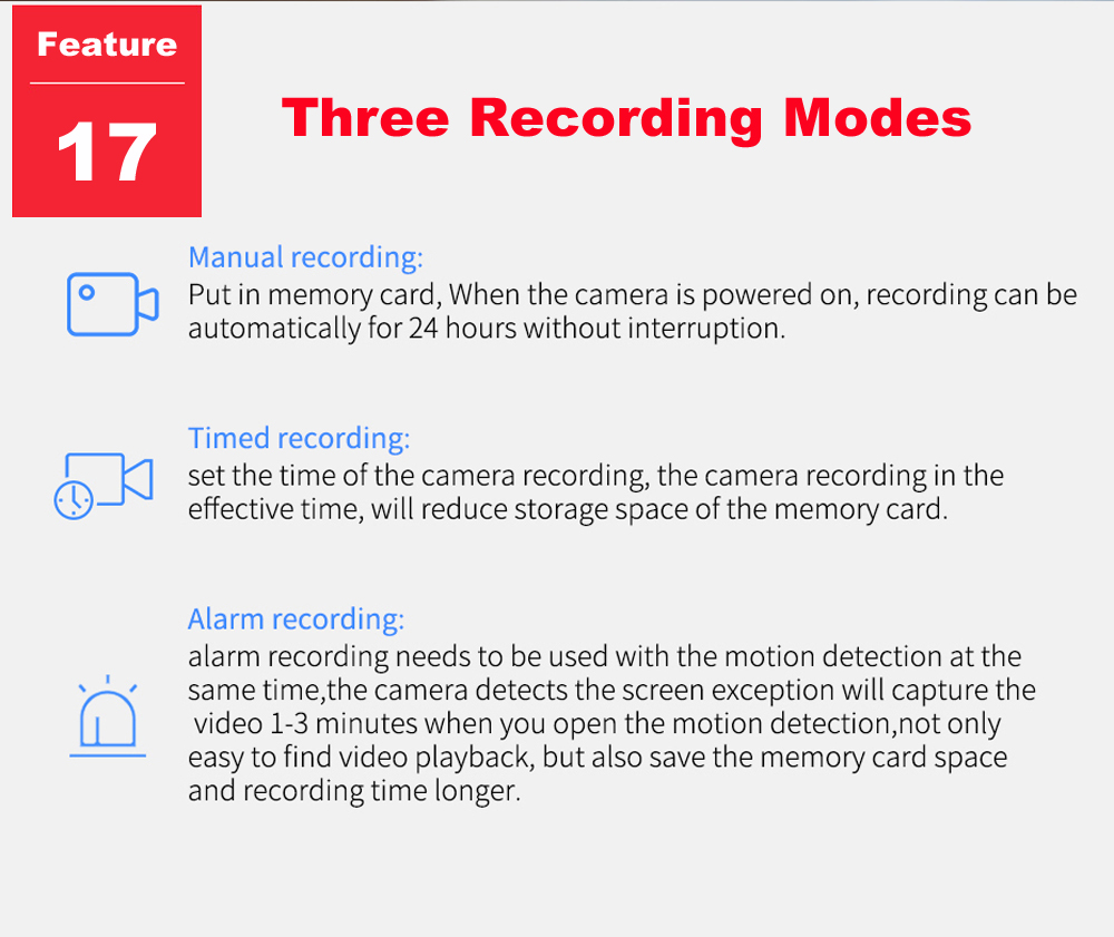 three recording modes