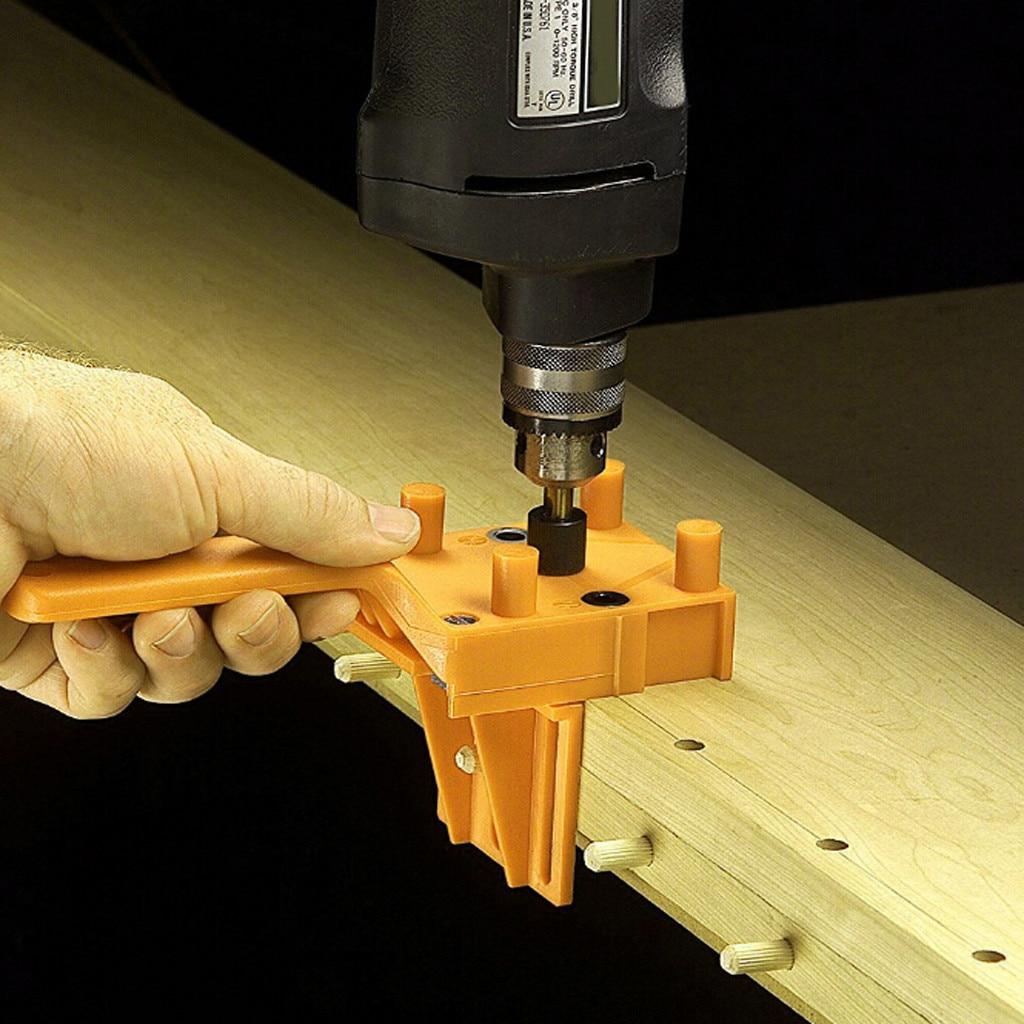 Handheld Woodworking Doweling Jig Drill Guide Wood Dowel Drilling Hole Saw Wood Tools Hand Herramientas Plumbing Tools