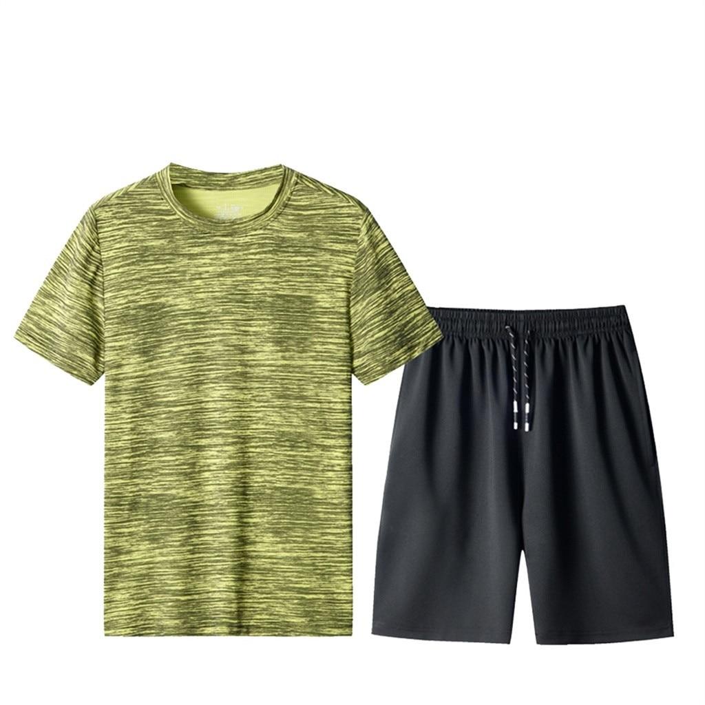 Men's Summer Leisure Fashion Camouflage Printing Short Sleeve Shorts Sports Sets Men's Sport Suits 2 Piece Set 7.8