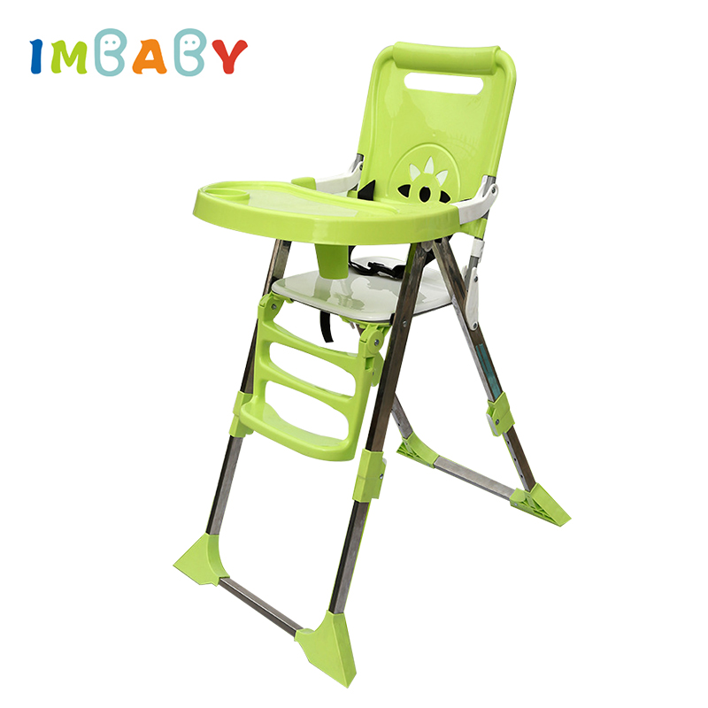 IMBABY Children Dining Chair Portable Adjustable Kids High Seat Food Tray Included Baby Eating Seats Folding Feeding Chairs стоимость
