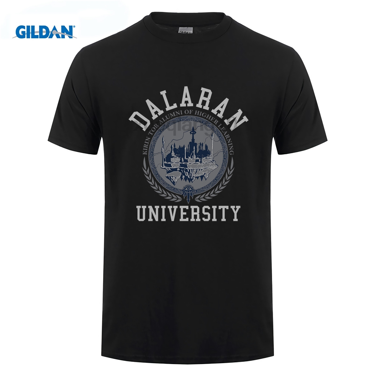 2019 Hot Sale Game T Shirt Brand T Shirt World Of Warcraft Men's Dalaran University Premium T-Shirt