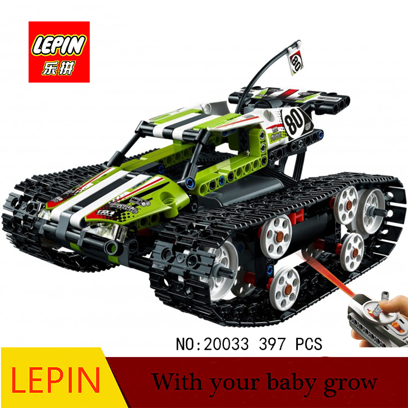 New Lepin 20033 397pcs Technic Series Remote control caterpillar vehicles Building Blocks Bricks Educational Toys with 42065