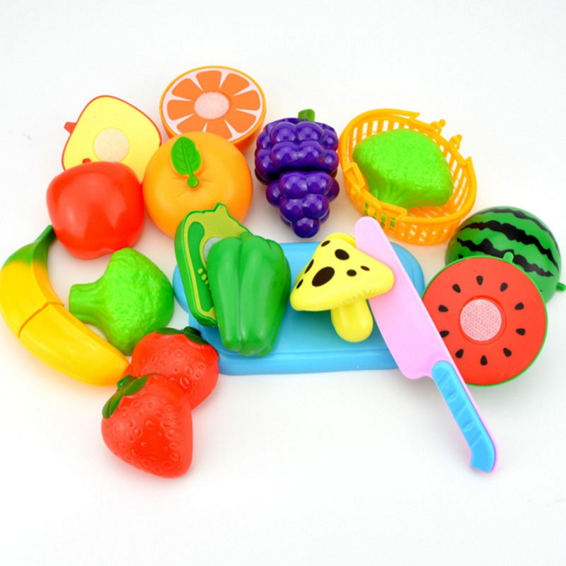 12pcs children plastic kitchen food fruit vegetable cutting set kids pretend play educational toy cook cosplay safety hot sale. Interior Design Ideas. Home Design Ideas