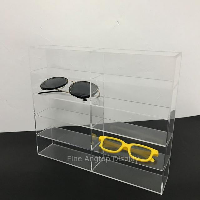 236289089 5 dupla Camada de Acrílico Transparente Caixa de óculos de Sol Óculos  Display Stand Titular