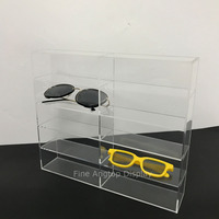 Double 5 Tier Clear Acrylic Sunglasses Eyeglasses Display Stand Box Holder
