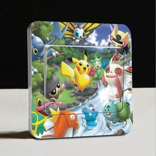 Free shipping 2015 new hot Color Pikachu cartoon stickers switch stickers  warm family