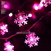LED Christmas garland christmas decoration snow pendant string light indoor/outdoor 10M 100 bulbs 8 functions control 110V/220V
