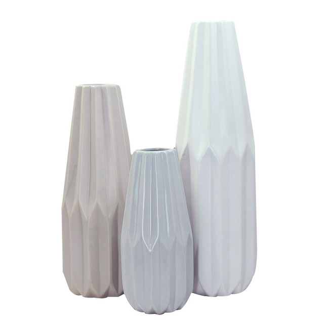 3 Size Solid Color Simple Flower Vase Home Decoration Desktop Vase