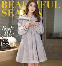 Faux Fur Coat Women 2019 Casual Hoodies Furry Thick Warm Long Rabbit Jacket Loose Winter feminine coat