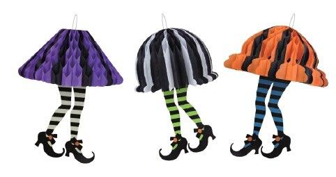 Retro Wunderlicher Halloween Hexen mit Füße Socken und Schwarze ...