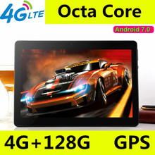 Buy 10 inch tablet pc Octa Core 3G 4G LTE Tablets Android 7.0 RAM 4GB ROM 128GB Dual SIM Bluetooth GPS Tablets 10.1 inch tablet pcs
