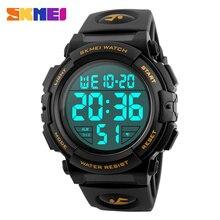 SKMEI 1258 relojes de Pulsera Digitales Dial Grande 50 M Cronógrafo Impermeable Masculino Relojes LED Relojes Deportivos Relogio masculino Al Aire Libre Nuevo