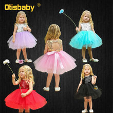 Summer Infant Party Dress 1 2 Years Kids Princess Sequin Backless Dresses Toddler Ball Gown Newborn Birthday Girl Baby Clothing bbwowlin baby girl dresses suits for 0 2 years kids christmas birthday party 9071