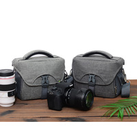 Camera Bag Vintage DSLR SLR Messenger Shoulder Bag Dark Gray For Canon EOS 200D 5D Mark IV 6D 7D Mark 2 77D 80D 800D 1500D