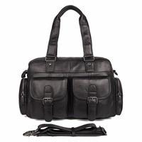 JMD 100% коровья кожа Для мужчин сумки классический сплошной черный сумка для ноутбука Лидер продаж сумка подходит книги 7381A